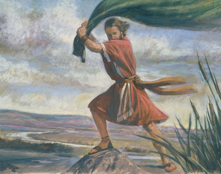 Elijah took up his mantle and smote the River Jordan, parting the waters so that he and Elisha could cross over. Elisha did the same thing on the way back, after Elijah was translated to glory.